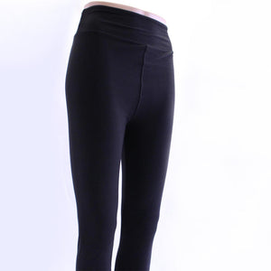 Soft solid black colored leggings for women sold by Jolina Boutique