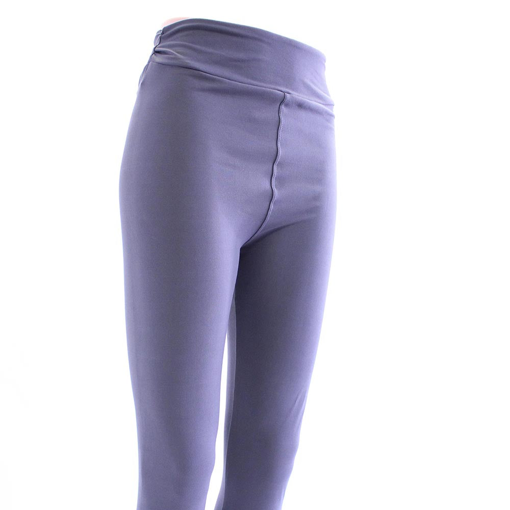 Solid slate gray colored leggings for women by Jolina Boutique