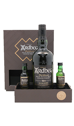 Ardbeg 10YO 'Ultimate' Giftpack with 2 miniatures