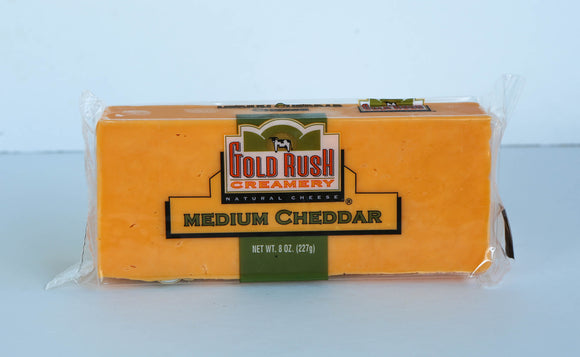 Gold Rush Medium Cheddar 1/2 LB