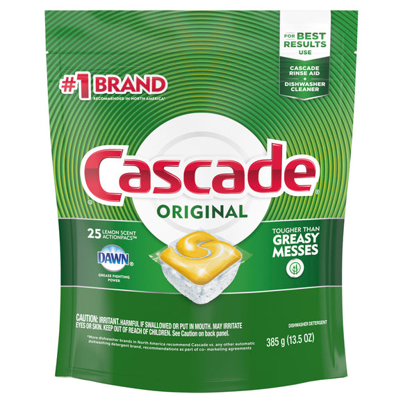 Cascade Original Dishwasher Cleaner 25 ct