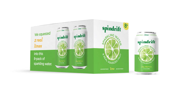 Spindrift Sparkling Water Lime 8 Pack
