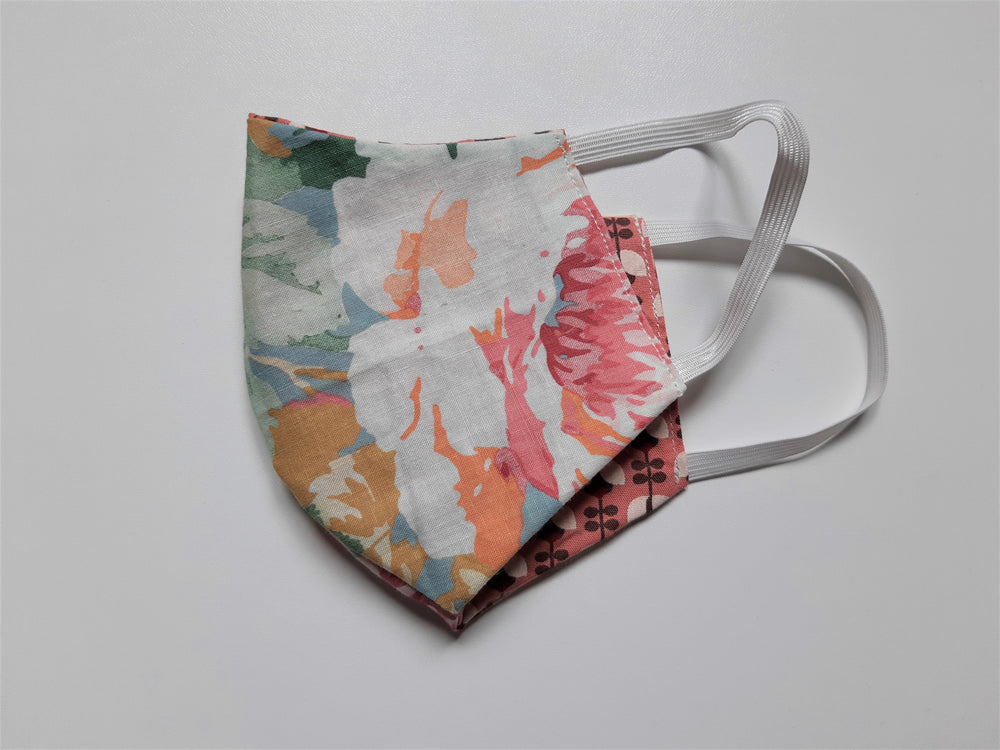 "Load image into Gallery viewer, The Limited Edition ""Bella"" Mask - Reversible Floral Series"