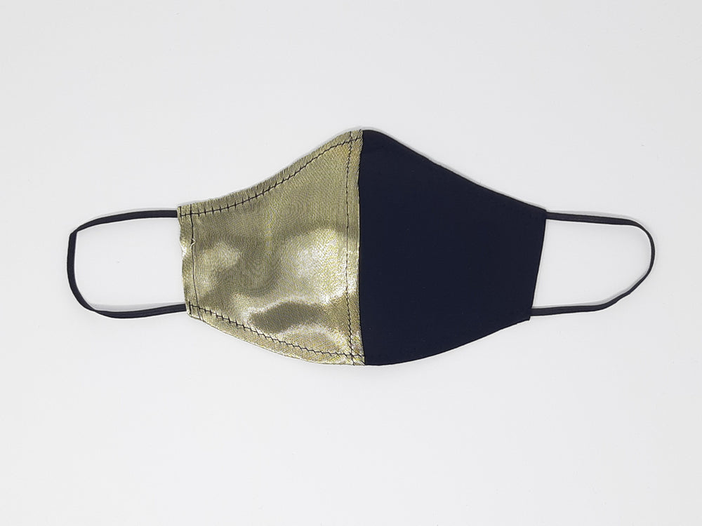 "Load image into Gallery viewer, The Limited Edition ""Aubrey"" - Gold Silk & Cotton Mask"