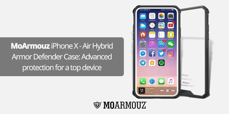 MoArmouz iPhone X - Air Hybrid Armor Defender Case: Advanced protection for a top device