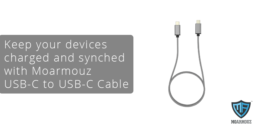 Keep your devices charged and synched with Moarmouz USB-C to USB-C Cable