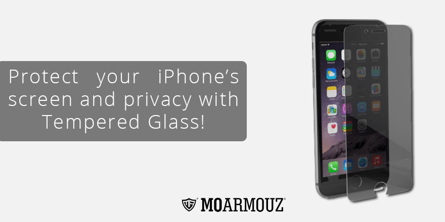 Protect your iPhone's screen and privacy with Tempered Glass!
