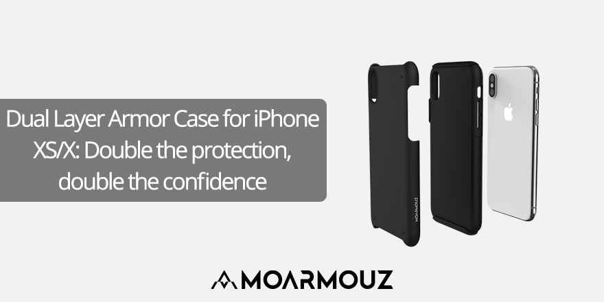 Dual Layer Armor Case for iPhone XS/X: Double the protection, double the confidence