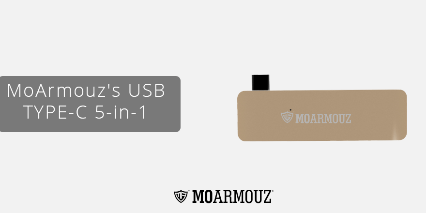 Expand the connection capabilities of your laptop with MoArmouz's USB TYPE-C 5-in-1 hub