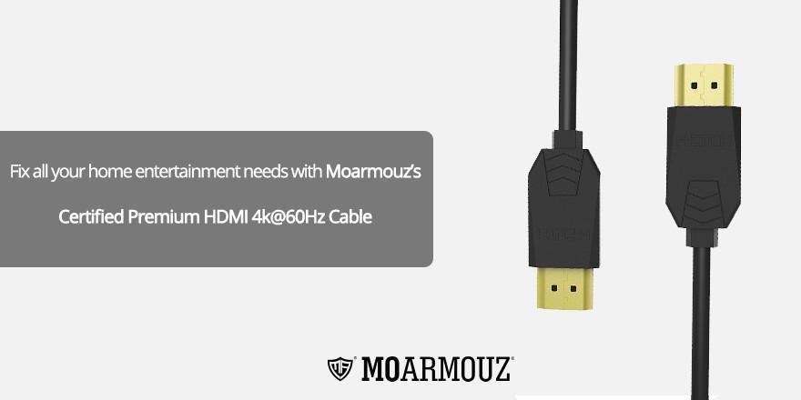 Fix all your home entertainment needs with Moarmouz's Certified Premium HDMI 4k@60Hz Cable