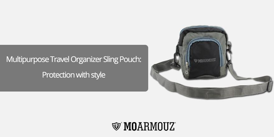 Multipurpose Travel Organizer Sling Pouch: Protection with style