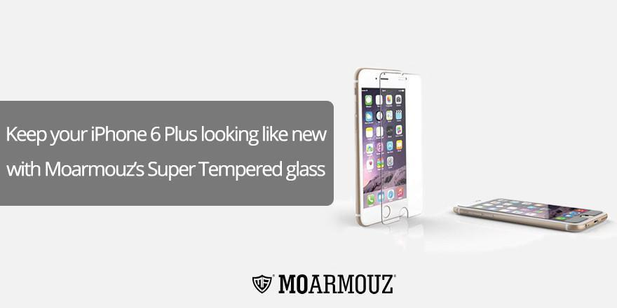 Keep your iPhone 6 Plus looking like new with MoArmouz's Super Tempered glass