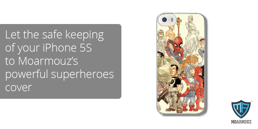 Let the safe keeping of your iPhone 5S to Moarmouz's powerful superheroes cover