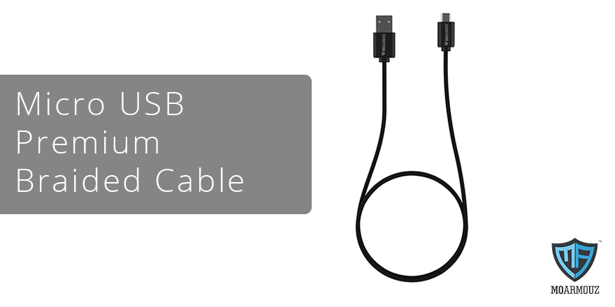 Keep your connectivity in top shape with Moarmouz's micro USB premium braided cable
