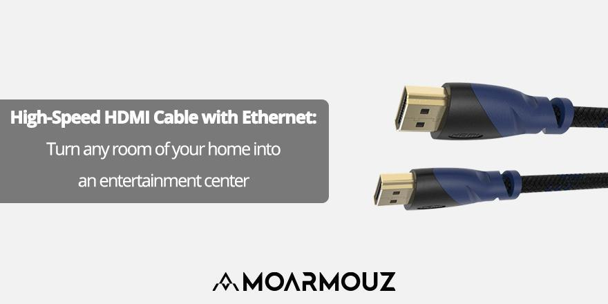 High-Speed HDMI Cable with Ethernet: Turn any room of your home into an entertainment center