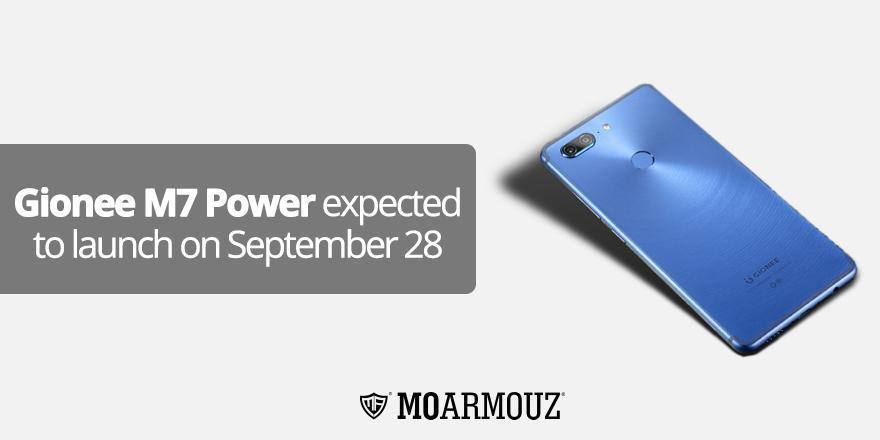 Gionee M7 Power expected to launch on September 28