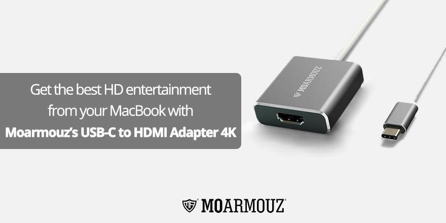 Get the best HD entertainment from your MacBook with MoArmouz's USB-C to HDMI Adapter 4K