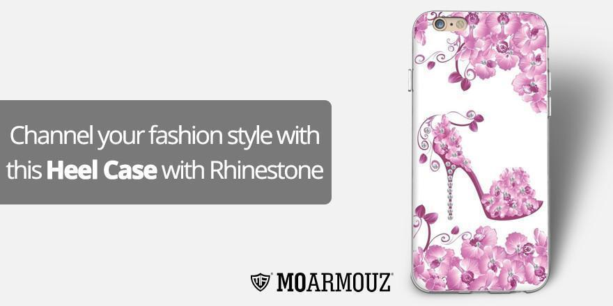 Channel your fashion style with this Heel Case with Rhinestone