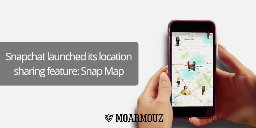 Snapchat launched its location sharing feature: Snap Map