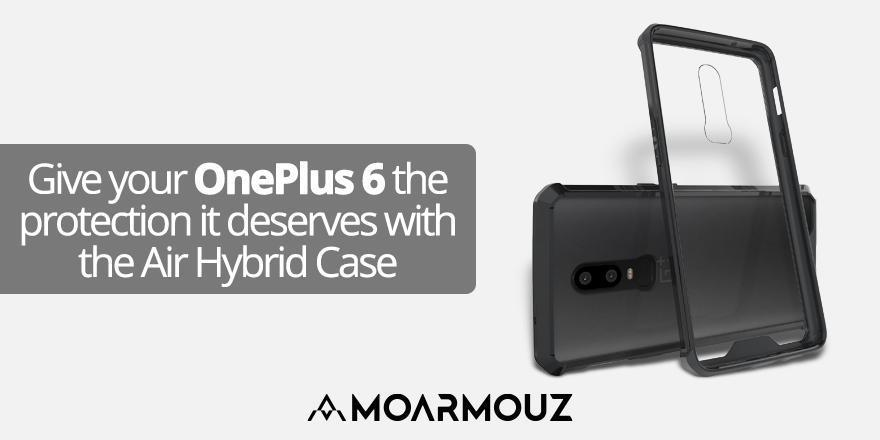 Give your OnePlus 6 the protection it deserves with the Air Hybrid Case