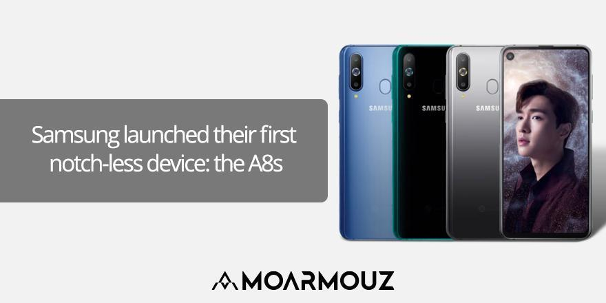 Samsung launched their first notch-less device: the A8s