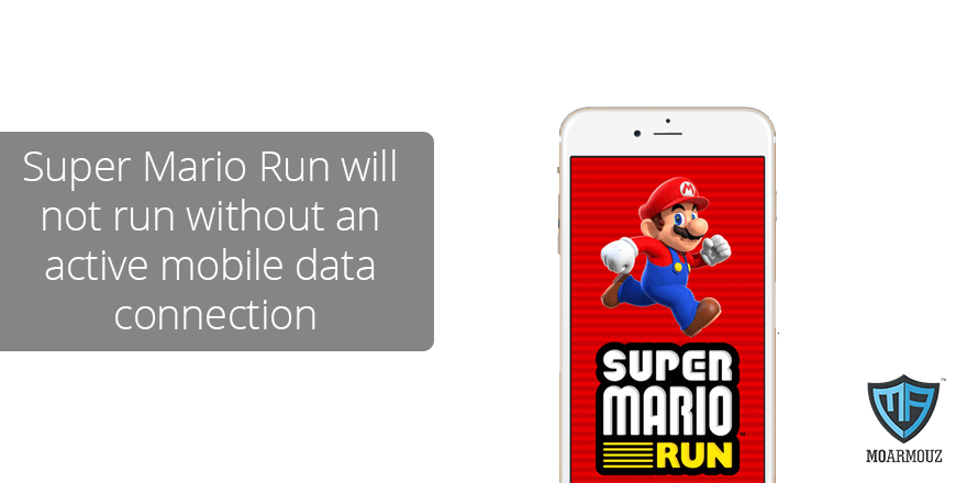 Super Mario Run will not run without an active mobile data connection