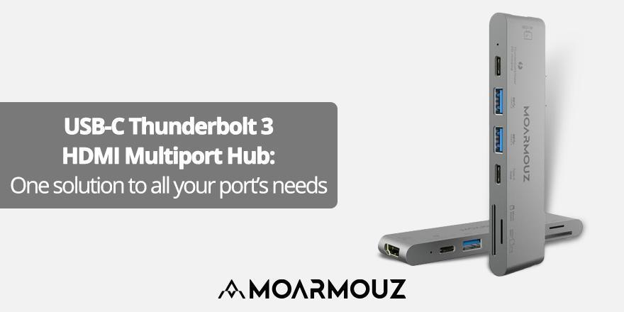 USB-C Thunderbolt 3 HDMI Multiport Hub: One solution to all your port's needs