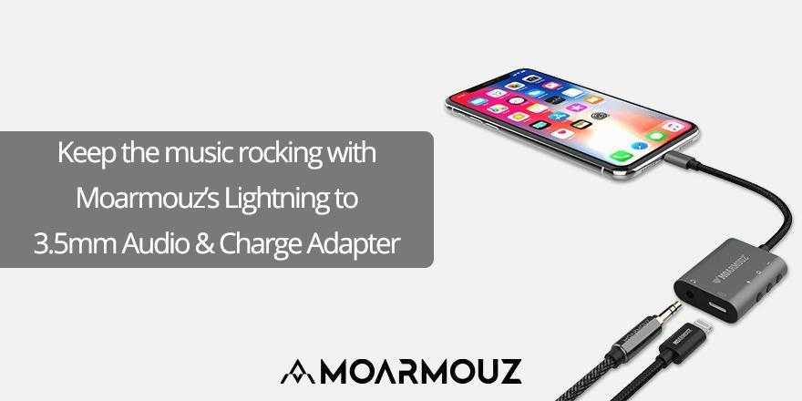 Keep the music rocking with Moarmouz's Lightning to 3.5mm Audio & Charge Adapter