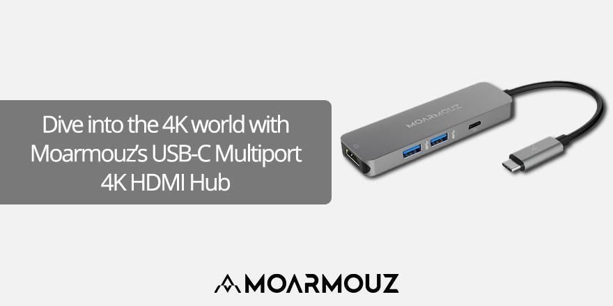 Dive into the 4K world with MoArmouz's USB-C Multiport 4K HDMI Hub