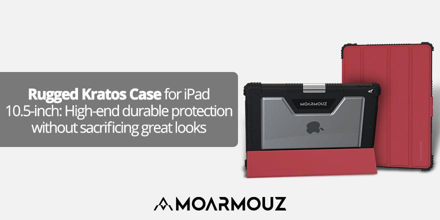 Rugged Kratos Case for iPad 10.5-inch: High-end durable protection without sacrificing great looks