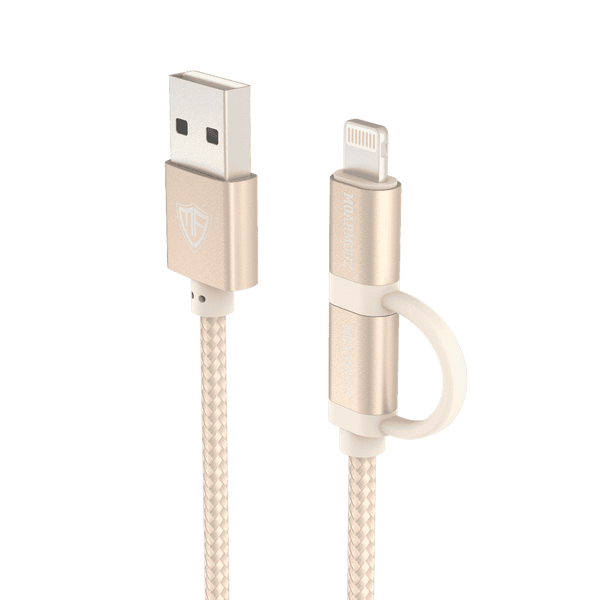 MoArmouz - 2 in 1 Braided Lightning and Micro USB Cable
