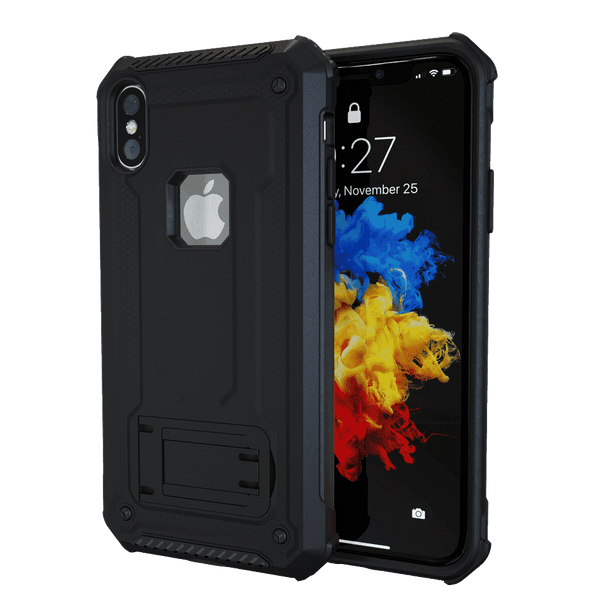 MoArmouz - Kickstand Rugged Protective Case for iPhone X