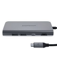 MoArmouz - Type C (USB-C) 8 in 1 Mini DisplayPort Dual Display Multiport Hub