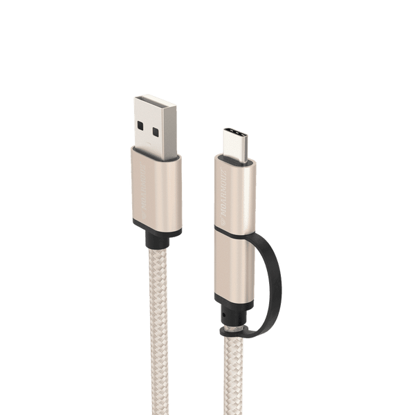 MoArmouz - 2 in 1 USB-C and Micro USB Cable