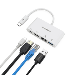 MoArmouz - Type C (USB-C) 4 in 1 Multiport Gigabit HDMI Hub