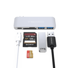 MoArmouz - Type C (USB-C) 5 in 1 Hub with Card Reader and PD Charging
