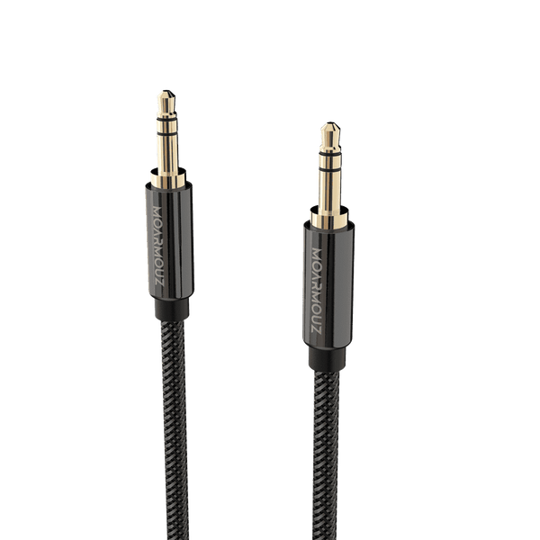 MoArmouz - 3.5mm Premium Braided Male to Male AUX Cable with Gold Plated Connectors