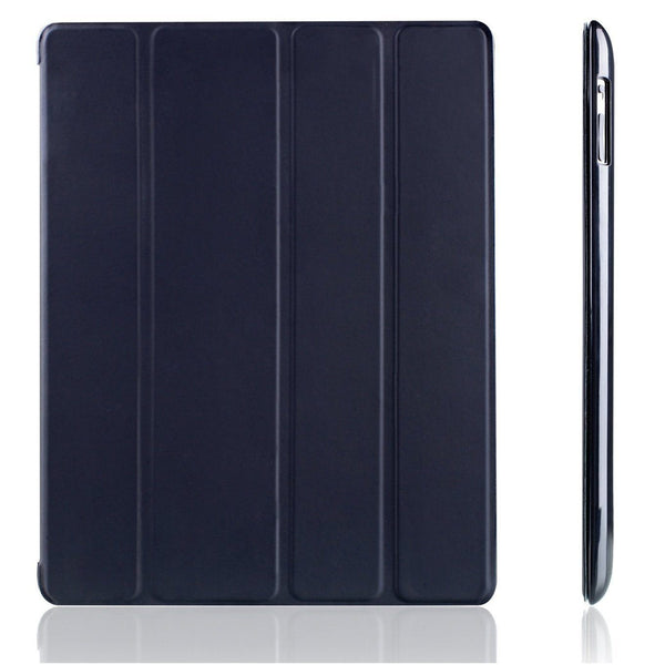 iPad 2/3/4 Four Fold Smart Cover with Flip Stand - MoArmouz