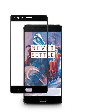 OnePlus 3 3D Full Cover Tempered Glass - MoArmouz