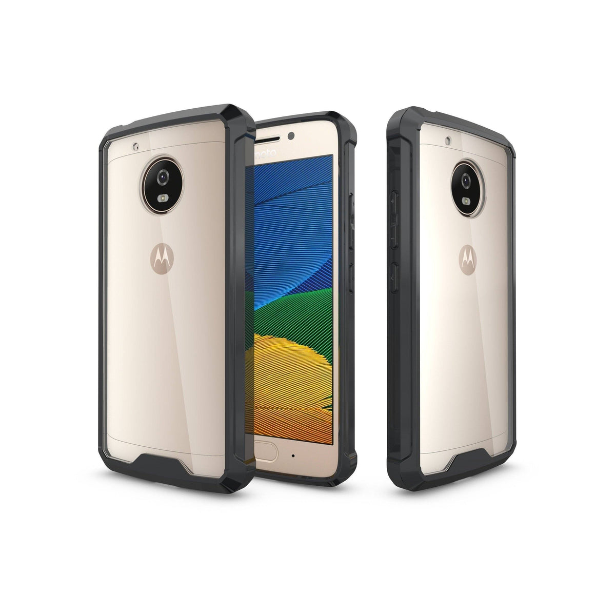 Shock Absorption Case for MOTO G5 - Air Hybrid Armor Defender Protective Case - MoArmouz