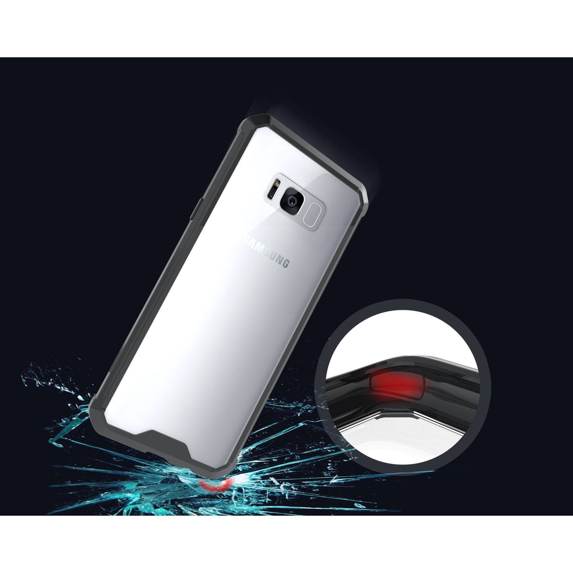 Shock Absorption Case for Samsung Galaxy S8 Plus - Air Hybrid Armor Defender Protective Case - MoArmouz