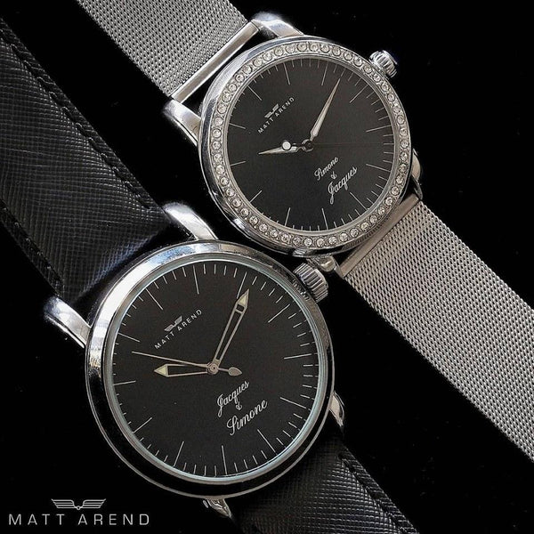 Affinity His & Hers Silver Black