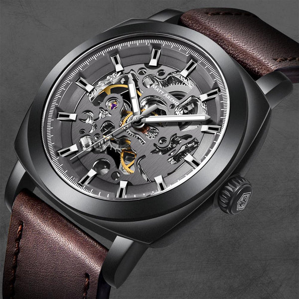 MA 860 Vertex Black Skeleton Automatic