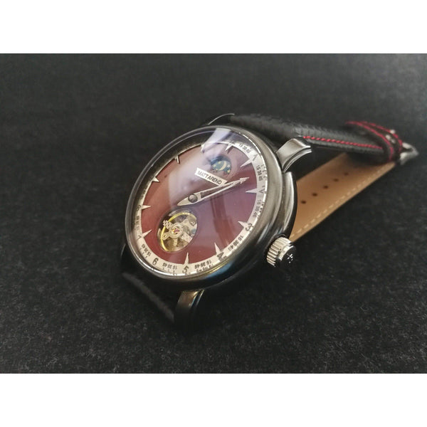 Ma 770 H1 Gunmetal Crimson Automatic One Hand Moonphase