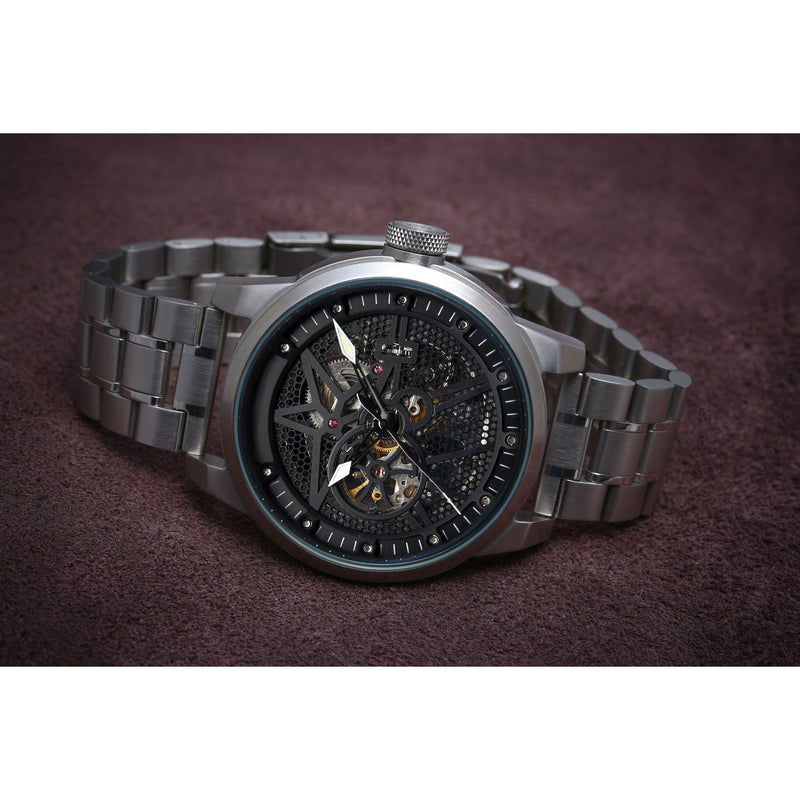 MA 753 BLACK STAR 52 SKELETON / STEEL
