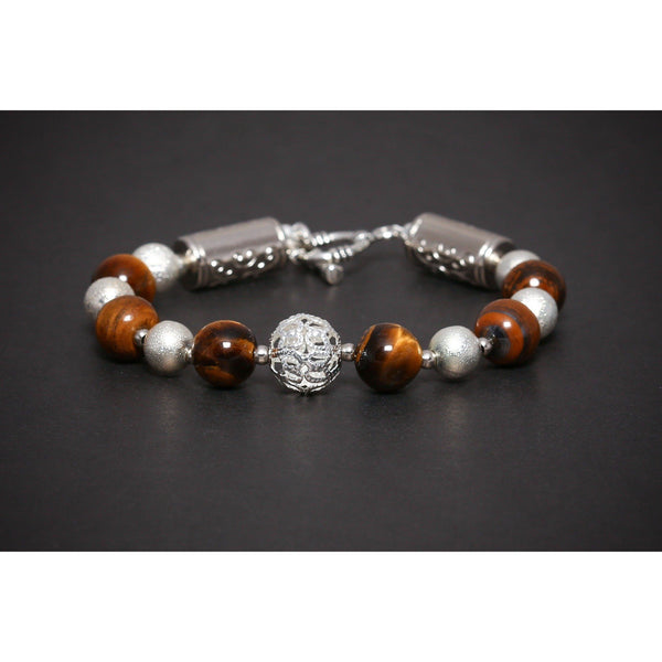 MA 505 SEMI PRECIOUS GEMSTONE BRACELET TIGER'S EYE