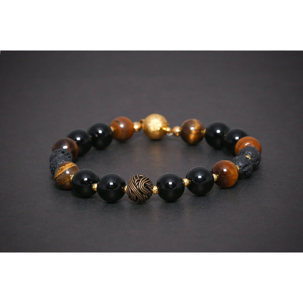 MA 507 SEMI PRECIOUS GEMSTONE BRACELET TIGER'S EYE