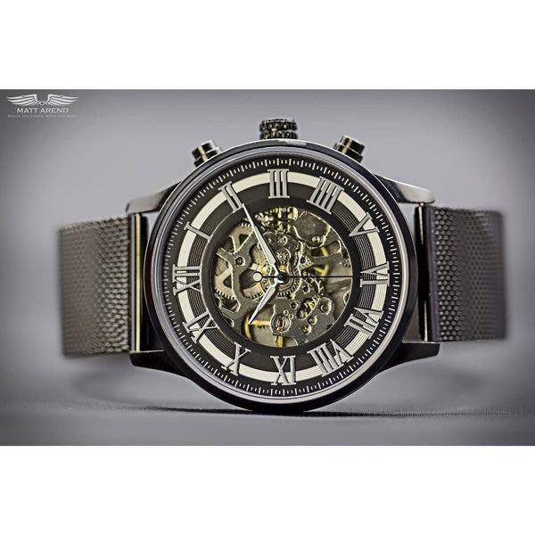 Custom Ma 270 Skeleton Black-Wristwatch-Matt Arend Timepieces