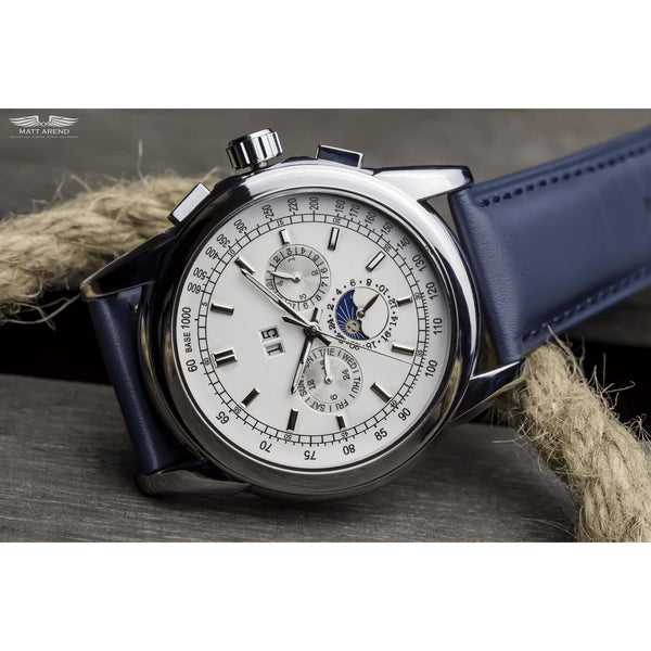 Custom Ma 398 Astronomer Automatic Blue-Wristwatch-Matt Arend Timepieces