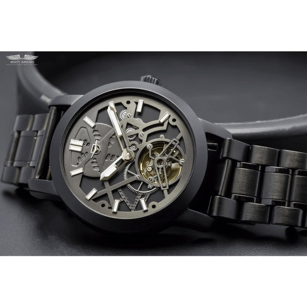Custom Ma 638 Monochrome X Steel Black-Wristwatch-Matt Arend Timepieces